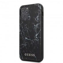 Guess Marble - Etui iPhone 12 / iPhone 12 Pro (czarny)