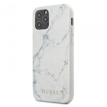 Guess Marble - Etui iPhone 12 Pro Max (biały)