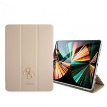 "Guess Saffiano 4G Big Metal Logo - Etui iPad Pro 12.9"" 2021 (złoty)"