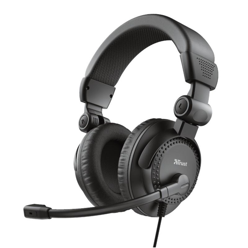 Trust Como - Zestaw słuchawkowy z mikrofonem (Czarny)