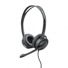 Trust Muaro - Zestaw słuchawkowy z mikrofonem (Czarny)