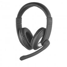 Trust Reno - Zestaw słuchawkowy z mikrofonem (Czarny)