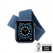 Crong Nylon - Pasek sportowy do Apple Watch 38/40 mm (Ocean Blue)