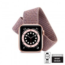 Crong Nylon - Pasek sportowy do Apple Watch 42/44 mm (Light Pink)