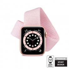 Crong Nylon - Pasek sportowy do Apple Watch 38/40 mm (Powder Pink)