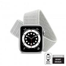 Crong Nylon - Pasek sportowy do Apple Watch 38/40 mm (Pastel Grey)