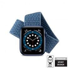Crong Nylon - Pasek sportowy do Apple Watch 42/44 mm (Ocean Blue)