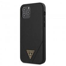 Guess Saffiano V - Etui iPhone 12 Pro Max (czarny)