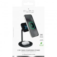 Puro Fast Charger 2in1 Mag Charging Stand – Podstawka z ładowarką bezprzewodową indukcyjną
