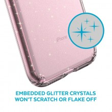 Speck Presidio Clear with Glitter - Etui iPhone 11 z powłoką MICROBAN (Gold Glitter/Clear)