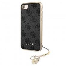 Guess 4G Charms Collection - Etui iPhone SE 2020 / 8 / 7 z zawieszką (szary)