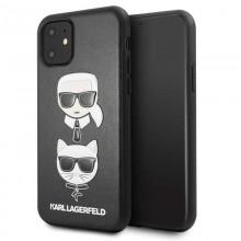 Karl Lagerfeld Embossed Case Karl & Choupette - Etui iPhone 11 (Black)