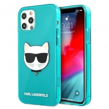 Karl Lagerfeld Choupette Head - Etui iPhone 12 Pro Max (Fluo Blue)