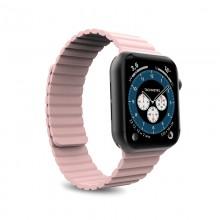 PURO ICON LINK - Magnetyczny pasek do Apple Watch 38/40 mm (S/M) (różowy)
