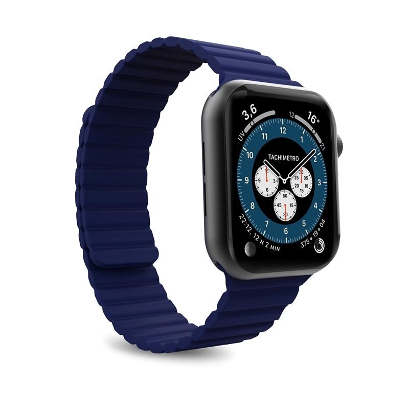 PURO ICON LINK - Magnetyczny pasek do Apple Watch 42/44 mm (M/L) (granatowy)