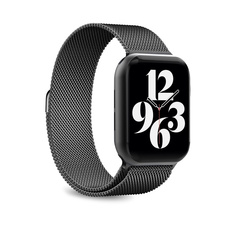 Puro Milanese Magnetic Band - Pasek ze stali nierdzewnej do Apple Watch 42/44 mm (czarny)