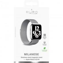 Puro Milanese Magnetic Band - Pasek ze stali nierdzewnej do Apple Watch 42/44 mm (srebrny)