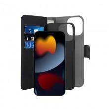PURO Wallet Detachable - Etui 2w1 iPhone 13 Pro Max (czarny)