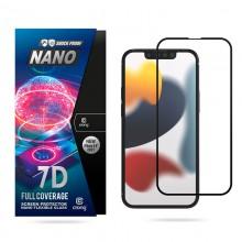 Crong 7D Nano Flexible Glass - Niepękające szkło hybrydowe 9H na cały ekran iPhone 13 mini