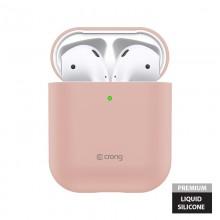 Crong Liquid Case - Etui Apple AirPods 1&2 generacji (piaskowy róż)
