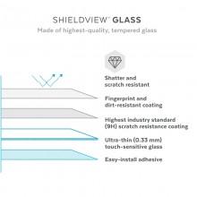Speck Shieldview Glass - Hartowane szkło ochronne iPhone 13 Pro Max z powłoką MICROBAN