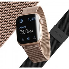 Puro Milanese Magnetic Band - Pasek ze stali nierdzewnej do Apple Watch 38/40 mm (czarny)