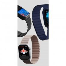 PURO ICON LINK - Magnetyczny pasek do Apple Watch 42/44 mm (M/L) (czarny)