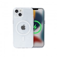 Crong Clear MAG Cover - Etui iPhone 13 MagSafe (przezroczysty)