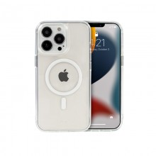 Crong Clear MAG Cover - Etui iPhone 13 Pro Max MagSafe (przezroczysty)