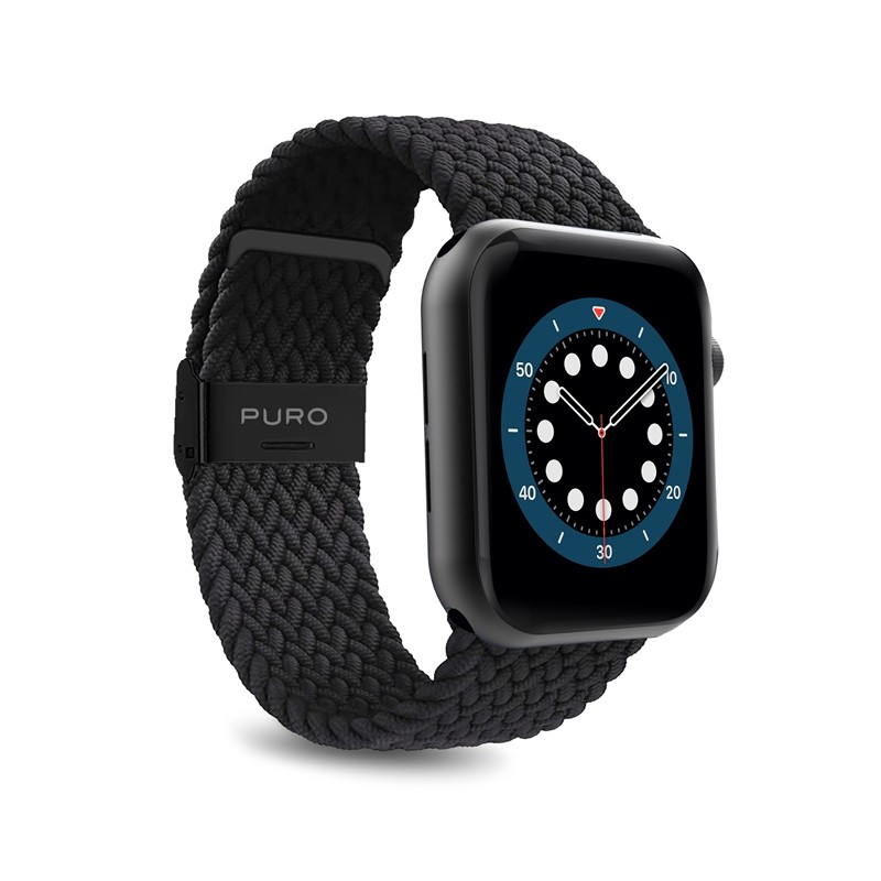 Puro Loop Band - Pleciony pasek do Apple Watch 38/40 mm (czarny)