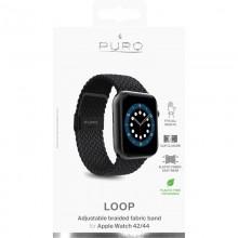 Puro Loop Band - Pleciony pasek do Apple Watch 42/44 mm (czarny)