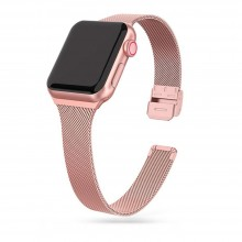 TECH-PROTECT THIN MILANESE APPLE WATCH 4 / 5 / 6 / 7 / SE (38 / 40 / 41 MM) ROSE GOLD