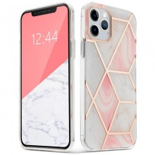 """TECH-PROTECT MARBLE """"2"""" IPHONE 12/12 PRO PINK"""