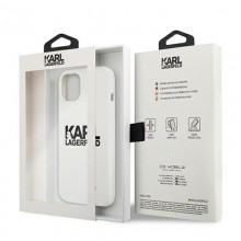 Karl Lagerfeld Silicone Stack Logo - Etui iPhone 13 (biały)