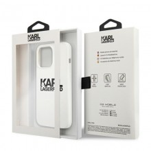 Karl Lagerfeld Silicone Stack Logo - Etui iPhone 13 Pro (biały)