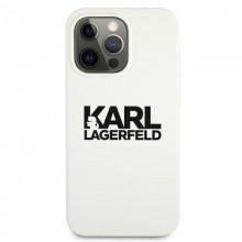 Karl Lagerfeld Silicone Stack Logo - Etui iPhone 13 Pro Max (biały)
