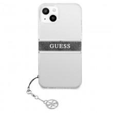Guess 4G Stripe Grey Charm  - Etui iPhone 13 mini (przezroczysty)