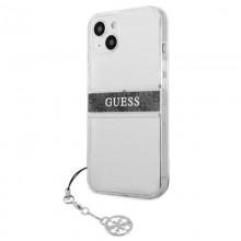 Guess 4G Stripe Grey Charm  - Etui iPhone 13 (przezroczysty)