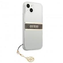 Guess 4G Stripe Brown Charm  - Etui iPhone 13 (przezroczysty)
