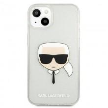 Karl Lagerfeld Choupette Head Glitter - Etui iPhone 13 (srebrny)