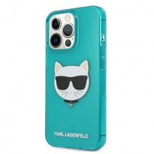 Karl Lagerfeld Choupette Head - Etui iPhone 13 Pro (fluo niebieski)