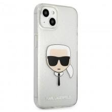 Karl Lagerfeld Choupette Head Glitter - Etui iPhone 13 mini (srebrny)
