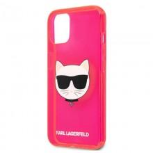 Karl Lagerfeld Choupette Head - Etui iPhone 13 (fluo różowy)