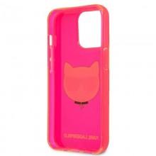 Karl Lagerfeld Choupette Head - Etui iPhone 13 Pro (fluo różowy)