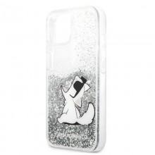 Karl Lagerfeld Liquid Glitter Choupette Fun - Etui iPhone 13 (srebrny)