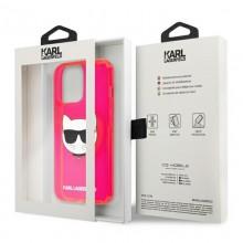Karl Lagerfeld Choupette Head - Etui iPhone 13 Pro Max (fluo różowy)