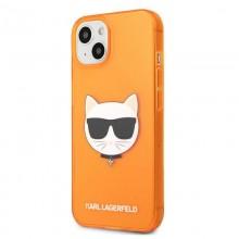 Karl Lagerfeld Choupette Head - Etui iPhone 13 mini (fluo pomarańczowy)