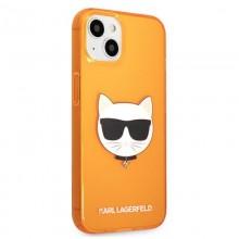 Karl Lagerfeld Choupette Head - Etui iPhone 13 (fluo pomarańczowy)