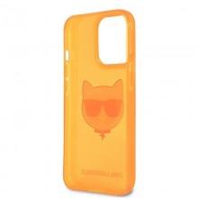 Karl Lagerfeld Choupette Head - Etui iPhone 13 Pro (fluo pomarańczowy)