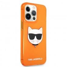 Karl Lagerfeld Choupette Head - Etui iPhone 13 Pro Max (fluo pomarańczowy)